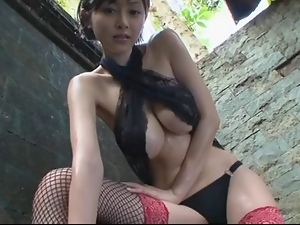 Asian, Big tits, Japanese, Softcore, Stockings, Tease