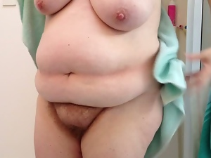 Bbw, Bedroom, Belly, Big tits, Hairy, Nipples, Pussy, Tits, Wife