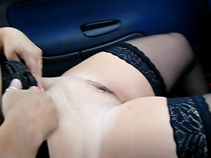 British, Doggystyle, Flashing, Stockings