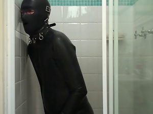 Amateur, Butt, Catsuit, Crossdressing, Gay, Masturbating, Rubber