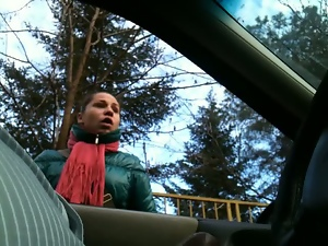 Amateur, Car, Flashing, Hidden cam, Voyeur