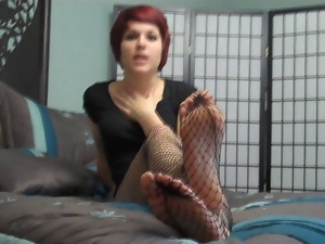 Babes, Emo, Encouragement, Fishnet, Foot fetish, Goth, Princess, Stockings