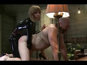 Bdsm, Femdom, Fucking, Hardcore, Latex, Mistress, Screaming, Strapon