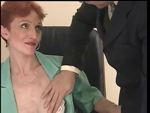 Anal, Banging, Cumshots, French, Mature, Office, Redheads, Thin