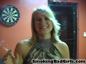 Amateur, Blondes, Cigarette, Smoking, Softcore, Teens