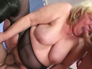 Aged, Bbw, Big tits, Blondes, Busty, Chubby, Cowgirl, Granny, Hardcore, Huge tits, Massive tits, Mature, Mature amateur, Missionary, Mmf, Obese, Pantyhose, Plumper, Stockings, Threesome