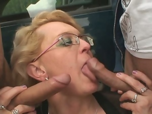 3some, Aged, Granny, Mature, Mature amateur, Milf, Mmf, Mom, Outdoor, Park sex, Threesome