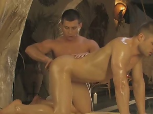 Anal, Ass fingering, Barebacking, Big cock, Fingering, Gay, Kissing, Nuru massage, Oiled
