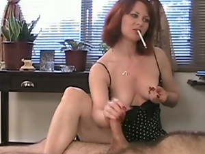 Amateur, Handjob, Jerking, Mature, Mature amateur, Redheads, Smoking, Tugjob