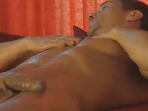 Big cock, Gay, Hunk, Jerking, Nude, Nuru massage, Oiled, Posing, Pov