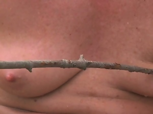 Big tits, Bondage, Farm, Humiliation, Outdoor, Pain, Redheads, Slave, Torture, Whip