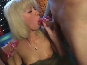 3some, Babes, Beautiful, Blondes, Blowjob, Deepthroat, Double blowjob, Glamour, Jacuzzi, Mmf, Party, Sauna, Threesome