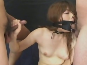 3some, Asian, Babes, Beautiful, Blowjob, Bondage, Brunettes, Deepthroat, Dungeon, Face fucked, Gagging, Humiliation, Japanese, Mmf, Oriental, Slave, Threesome, Torture