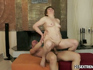 Ass licking, Big cock, Blowjob, Cowgirl, Curvy, Deepthroat, European, Fingering, Granny, Hardcore, Kissing, Mature, Mature amateur, Natural boobs, Natural pussy, Redheads