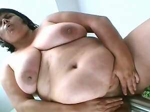 Bbw, Big natural tits, Big tits, Chubby, Chunky, Fat, Huge toy, Masturbating, Natural pussy, Nude, Obese, Plumper, Sex toys, Solo