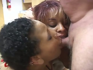 Bbw, Big tits, Black butt, Blowjob, Busty, Chunky, Deepthroat, Double blowjob, Ebony, Gagging, Huge tits, Interracial, Massive tits, Obese, Plumper