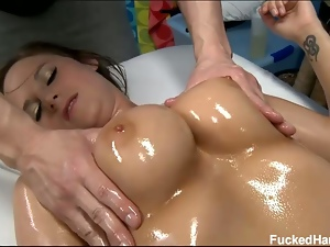 18 year old, 19 year old, Brunettes, Hardcore, Hd, Massage, Missionary, Oiled, Teens, Young