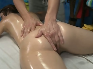 Babes, Big butt, Brunettes, Cute, Hardcore, Massage, Oiled, Pussy