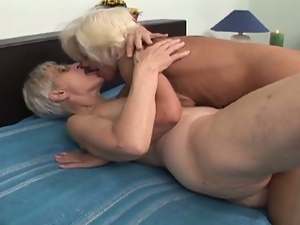 Aged, Blondes, Granny, Lesbian, Natural pussy, Sex toys, Vibrator