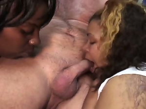 3some, Bbw, Blowjob, Chubby, Chunky, Cum in mouth, Cum swapping, Cumshots, Deepthroat, Double blowjob, Ebony, Facials, Ffm, Hardcore, Interracial, Threesome
