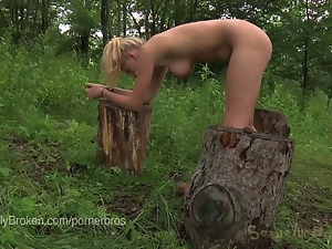 Babes, Bdsm, Beautiful, Blondes, Bondage, Fetish, Forest, Glamour, Hardcore, Humiliation, Outdoor, Pain, Torture
