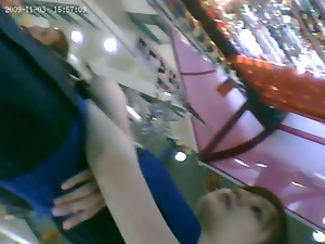 Chinese, First time, Hidden cam, Student, Upskirt, Voyeur