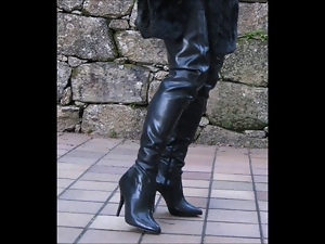Boots, Crossdressing, Gay, Outdoor, Rubber