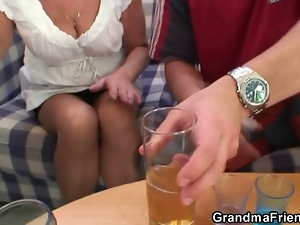 Drinking, Granny, Mature, Orgy, Threesome