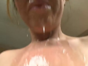 Blowjob, Close up, Handjob, Milf, Sloppy, Stepmom, Tits