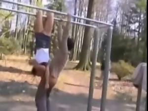Acrobatic, Amazing, Blowjob, Funny, Park sex, Public, Teens, Tits