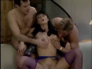 Big tits, Classic, Double penetration, French, Pornstars, Vintage