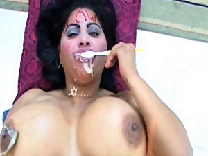 Big tits, Blowjob, Cuban, Facials, Interracial, Latina, Tits