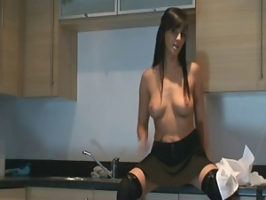 Jerk off instruction, Kitchen, Masturbating