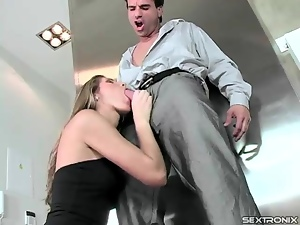 Black, Blowjob, Dress, Hardcore, High heels, Sucking