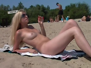 Beach, Nudist, Public, Teens