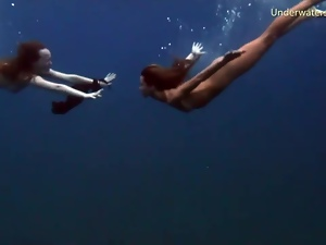 Clothed sex, Small tits, Swimsuit, Teens, Underwater