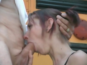 Blowjob, Dick, Old, Old and young, Outdoor, Sucking, Teens