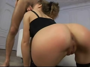 Blowjob, Chick, Dick, Lingerie, Sexy, Skinny, Sucking, Tall
