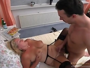 Doggystyle, Fucking, Mature, On her knees, Stockings