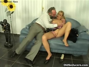Blondes, Blowjob, European, Fucking, Old, Ponytail, Pussy, Shaved, Tattoo, Teens, Young