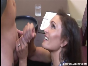 Dirty talk, Handjob, Milf, Restaurant