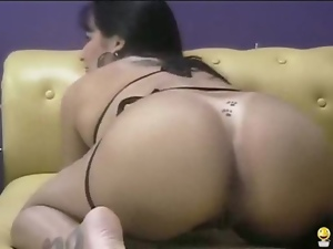 Amateur, Brazilian, Masturbating, Spy, Thong, Webcam