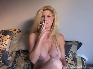 Beautiful, Blondes, Boobs, Cougar, Housewife, Mature, Milf, Mom, Old, Smoking, Wife
