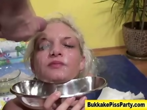 Bizarre, Bukkake, Cum drenched, Fetish, Peeing, Watersport, Whore