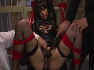 Asian, Bar, Big tits, Bitch, Busty, Japanese, Natural boobs, Oriental, Sex toys, Slut, Threesome, Tied up, Tits
