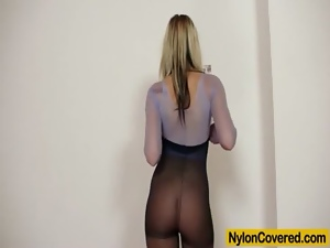 Blondes, Face, Fetish, Mask, Nylon, Pantyhose, Spandex