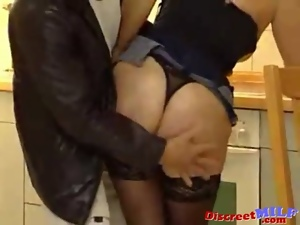 3some, Cougar, Kitchen, Milf, Mmf, Old, Oral, Redheads, Saggy tits, Sandwich, Stockings, Teens, Threesome, Young