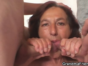 Dick, Granny, Mature, Naughty, Old, Raunchy, Swallow, Young