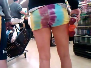 Babes, Hidden cam, Hippy, Shorts, Voyeur