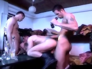 Army, Gay, Group sex, Hunk, Military, Muscled
